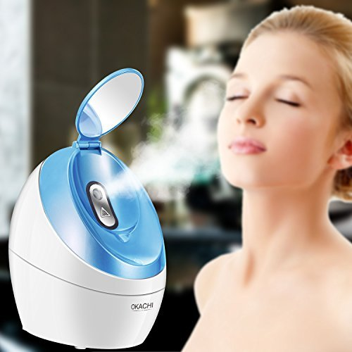 Nano Face Steamer Professional Home Facial Spa Steam Device Ionic Hot Mist Vaporizer Portable Personal Moisturizer Humidifier for Face Deep Clean Skincare