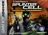 Tom Clancy's Splinter Cell - Pandora Tomorrow GBA Instruction Booklet (Game Boy Advance Manual Only - NO GAME) (Nintendo Game Boy Advance Manual)