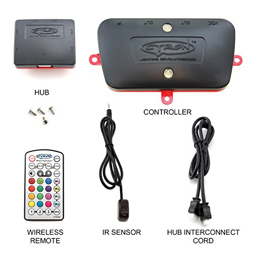 Wireless IR LED RGB Smart Controller 12V DC (100W), ETL Listed