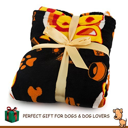 Deluxe Dog Blanket, 39x59'', Large, Super Soft Fleece, ''Top Dog'' Design, Machine-Washable, Perfect Gift for Dogs & Dog Lovers by Best of Breed Pet Care (Image #3)