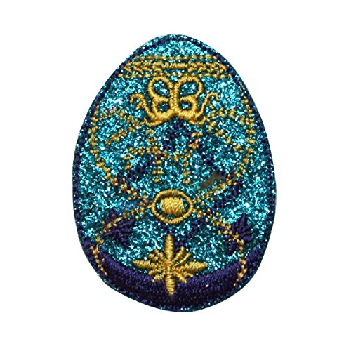 ID 3344 Faberge Easter Egg Patch Decorative Jeweled Embroidered Iron On Applique (Jeweled Eggs Faberge)