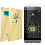 LG G5 Screen Protector [Full Coverage], PLESON [3-Pack] LG G5 Clear Screen Protector, Ultra Clear/Anti-Glare/Anti-bubbles Crystal Invisible Shield Screen Protector for LG G5