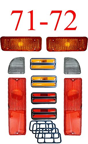 71-72 Chevy 10Pc Tail Light, Deluxe Side & Amber Parking Light