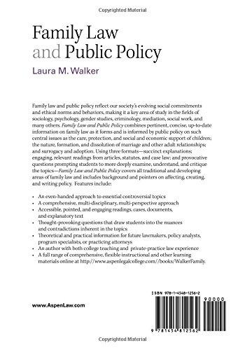 Family Law & Public Policy (Aspen College) (Aspen College Series)