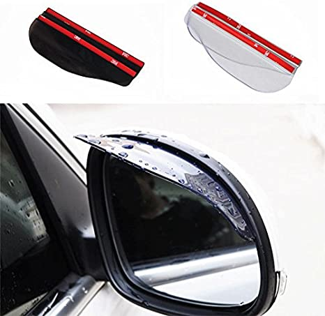 CALISTOUK Rain Protection Cover,Car Side Wing Mirror Rain Protector Cover Cap,Waterproof Eyebrow Rain Guard for Car Auto Rear View Mirror 2 Pack