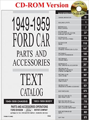8ecc86d87d71 1949 thru 1959 Ford Car Parts and Accessory Catalog CD-ROM – 26 Nov 2007
