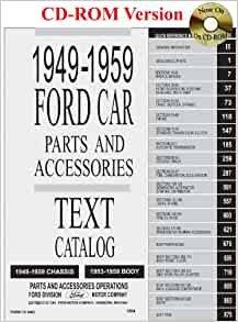 1949 thru 1959 ford car parts and accessory catalog ford for Ford motor co parts dept