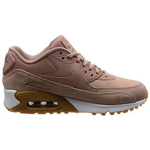 Womens Brown Air (NIKE Wmns Air Max 90 SE Lifestyle Sneakers Women Particle Pink/Brown/White New 881105-601 - 9)
