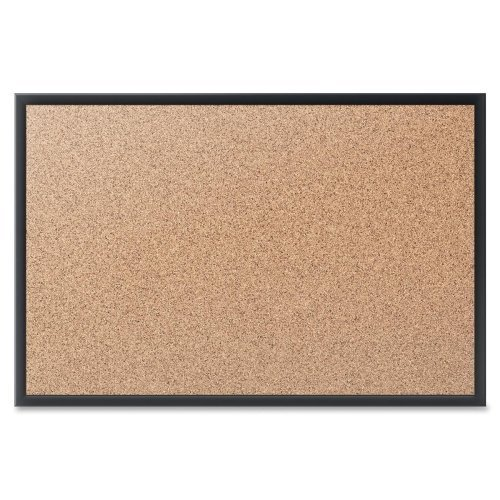 * Cork Bulletin Board with Black Aluminum Frame, 24 x 18 * by COU