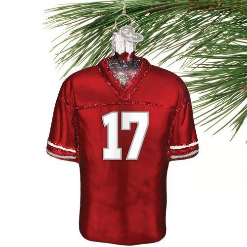 NCAA Washington State Cougars #17 Crimson Glass Football Jersey Ornament ()