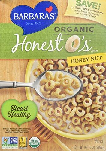 Barbaras Bakery Honey - Barbara's Bakery Organic Honey Nut Honest O's - 10 oz