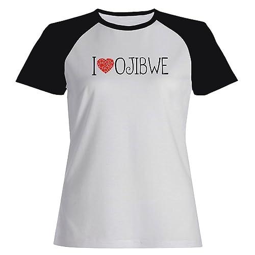 Idakoos I love Ojibwe cool style – Lingue – Maglietta Raglan Donna