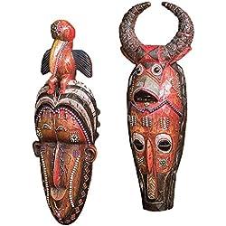 Design Toscano Masks of the Congo Wall Sculptures