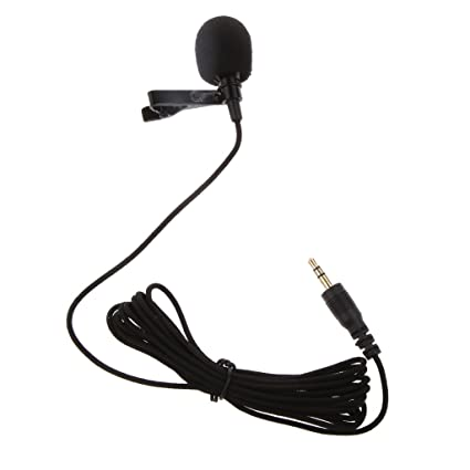Generic Black Mini Lavalier Lapel Mic Microphone For Voice Chat
