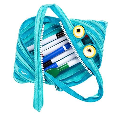 ZIPIT Wildlings Big Pencil Case/Cosmetic Makeup Bag, blue (ZTMJ-WD-CRE)