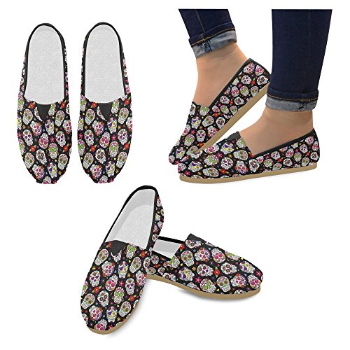 InterestPrint Womens Loafers Classic Casual Canvas Slip On Fashion Shoes Sneakers Flats Multi 12 4fGO1Av
