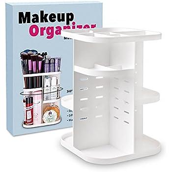 Terresa 360 Rotating Makeup Organizer, Bathroom Cosmetic Storage, 6 Layers  To Adjust Height,