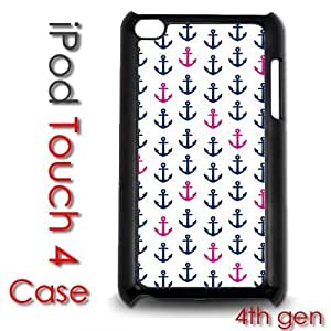For Case Samsung Note 4 Cover Plastic Case - Little Anchors Pink and Blue