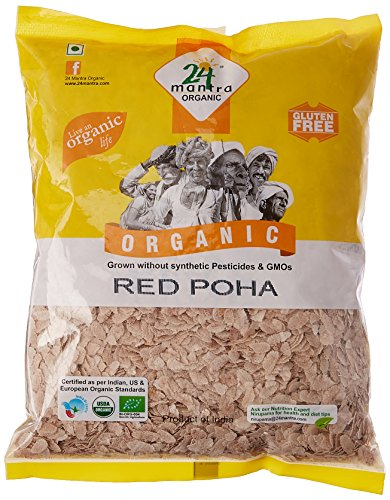 24 Mantra Organic Red Poha (Flattened Rice) (500g) by 24 MANTRA