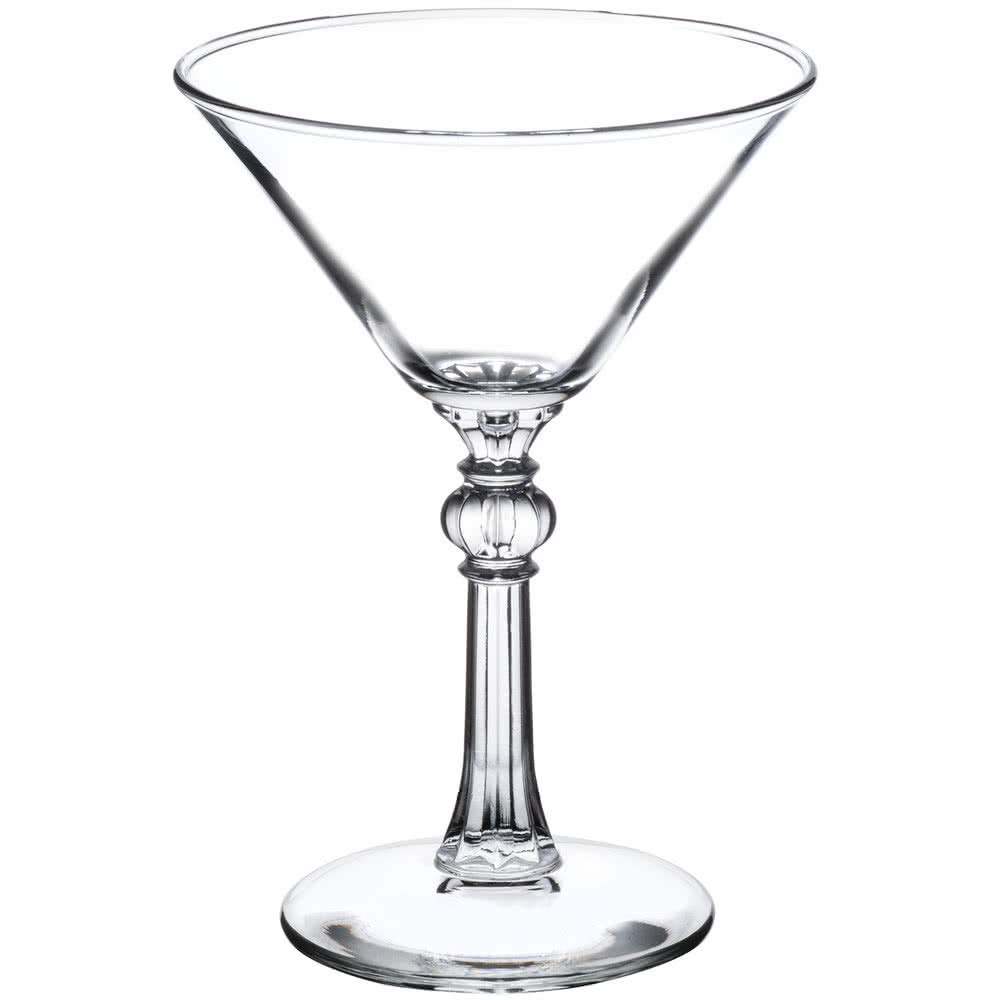 Libbey 8876 Art Deco 6 oz Martini Glass, Set of 6 with Bonus FDL Picks
