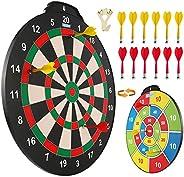 Magnetic Dart Board Set, 18 inch Safe Dart Game for Kids, Best Boy Toys Gift Indoor Outdoor Game with 12 Darts
