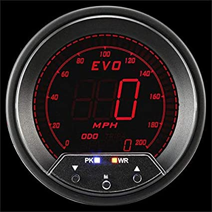 200 Kph To Mph >> Amazon Com Prosport Universal 85mm Evo Speedometer With Peak