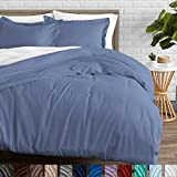 Bare Home Duvet Cover and Sham Set - King - Premium 1800 Ultra-Soft Brushed Microfiber - Hypoallergenic, Easy Care, Wrinkle Resistant (King, Coronet Blue)