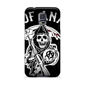 Scratch Resistant Hard Cell-phone Case For Samsung Galaxy S5 With Unique Design Realistic Motorhead Band Image LauraAdamicska