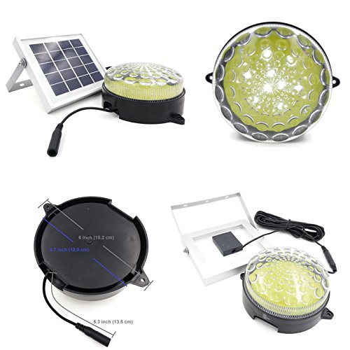 ROXY-G2-Solar-Outdoor-Indoor-Lighting-Kit-with-Lithium-Battery-Photo-Sensor-for-Auto-On-Off-3-Level-Brightness-Control-15ft-Cable-for-Garage-Workshop-Cabin-Yard-Shed-Light