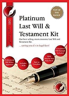 Last will testament kit do it yourself kit amazon eason platinum last will and testament kit top of the range diy will kit solutioingenieria Choice Image