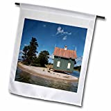 3dRose Roni Chastain Photography - Green house by the water - 18 x 27 inch Garden Flag (fl_264627_2)
