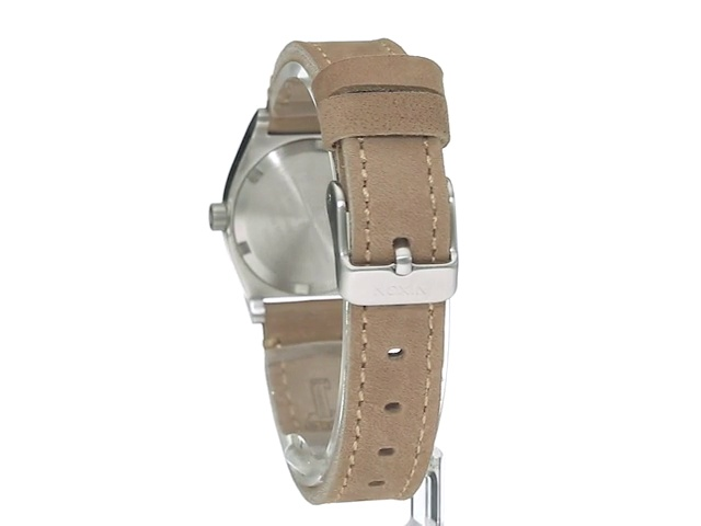 Nixon Women's A509-2217 Small Time Teller Stainless Steel Watch with Leather Band