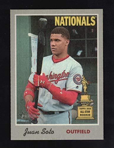 2019 Topps Heritage Juan Soto 1970 Topps Cloth Stickers #4 - Washington Nationals