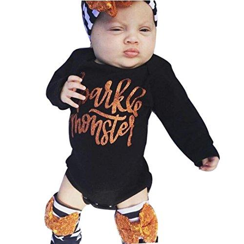 well wreapped tsmile halloween fashion newborn infant baby girls long sleeve letter romper tops