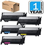 CLT-K404S CLT-C404S CLT-Y404S CLT-M404S Toner Cartridge of 5 Pack Compatible for Samsung 404 404S Toner Set, use in Xpress C430W C480FW Laser Printer, Sirensky
