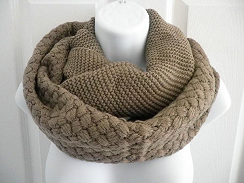 [Brown_NEW Cowl neck scarf Winter Infinity knit Shawl circle (US Seller)] (Faux Chain Hooded Costumes)