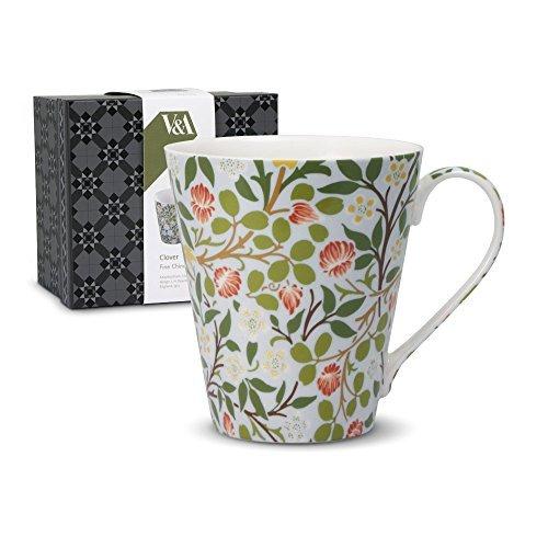 - V&A Clover Flower Porcelain Coffee Mug with Box 14 Ounce