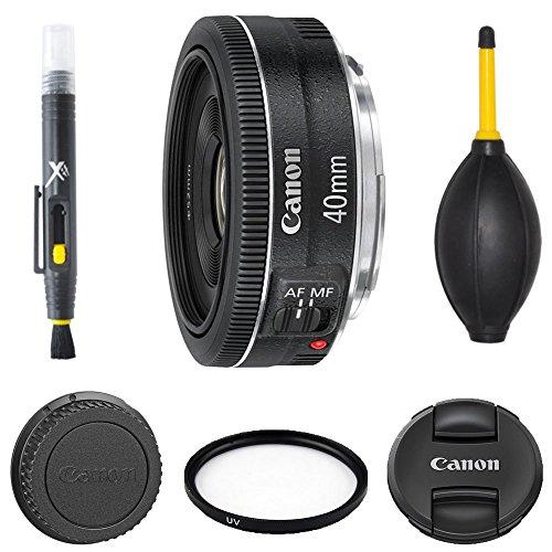 Canon EF 40mm f/2.8 STM + UV Filter + 2 In 1 Lens Pen + Dust Blower + Manufacturer Supplied Accessories - International Version