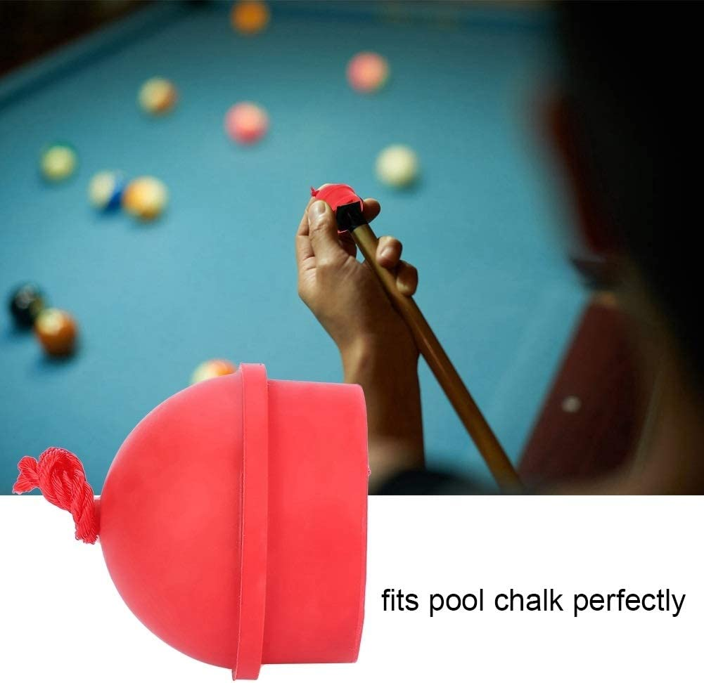 Starbun Cue Chalk Holders 2pcs No-Slip Cue Tip Chalk Billiard Pool Cue Chalk Holder with Cord for Snooker Pool