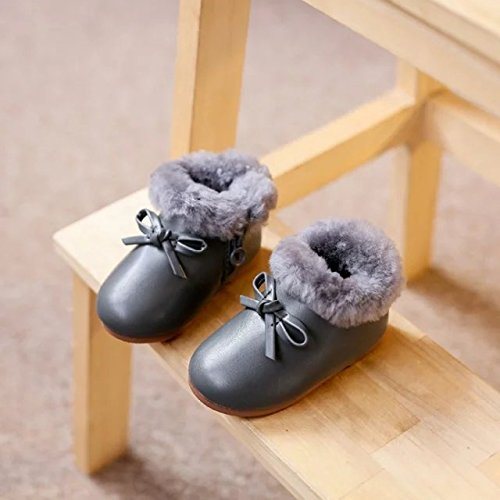 "5.1""Infant Shoes Girls Boots Toddler Baby Shoes Wool Cotton Soft Bottom Shoes Winter Warm Snow Boot Sole Prewalker Crib Shoes Infant First Walkers,Suitable for 12-18 Months Baby Girl Boy"
