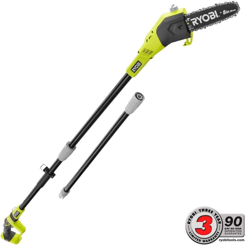 2. Ryobi One+ Cordless Electric Pole Saw