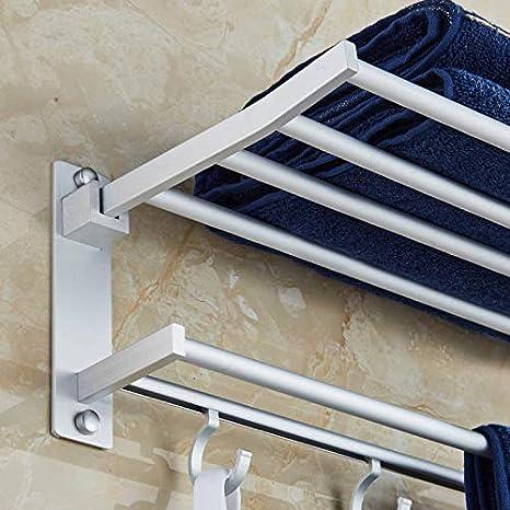 40 cm lzndeal Supporto di Asciugamano in Alluminio di Spazio dell Spazio 40//50//60/cm con 5/Ripiani Pieghevoli di Telo da Cucina di Asciugamano Pieghevole