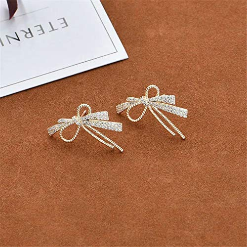 CHASIROMA Bow Earrings Cubic Zirconia Bow Stud Earrings Jewelry Gift for Women