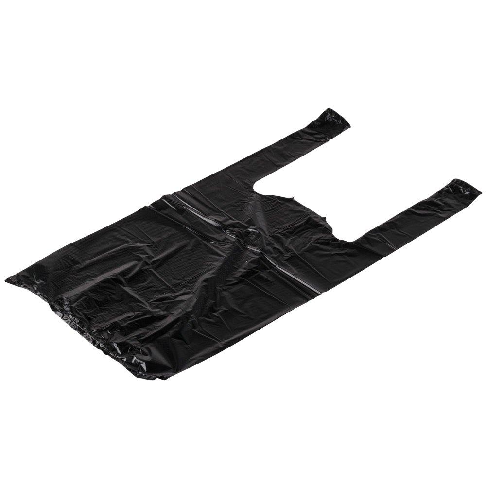レインボー1 / 10bh1400、1 / 10-size SmallブラックプラスチックTシャツショッピングバッグ、0.55 MilポリエチレンGroceryバッグ、1300-pieceケース B01M35DBCN
