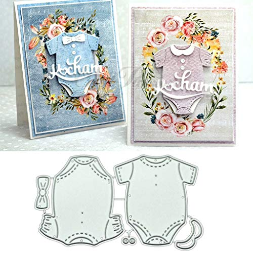 Hukai Baby Clothes DIY Metal Cutting Dies Stencil Scrapbooking Photo Album Stamp Paper Card Crafts Decro,Good Gift for Your Kids to Cultivate Their Hands-on Ability