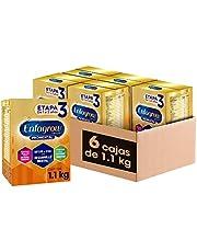 Enfagrow Premium Promental Etapa 3 Alimento a base de leche fortificado para Niños Mayores de 12 Meses Paquete Promo 6 cajas de 1100 gramos c/u