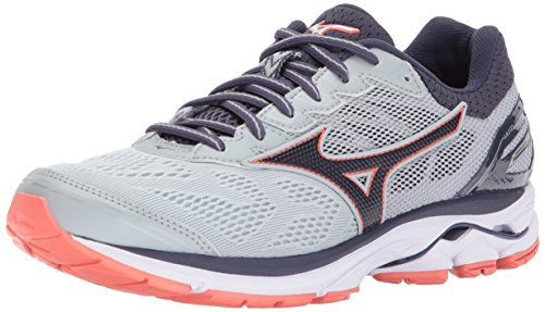 Mizuno Women's Wave Rider 21 Running Shoe Athletic Shoe, high rise/gray stone, 8.5 B US by Mizuno