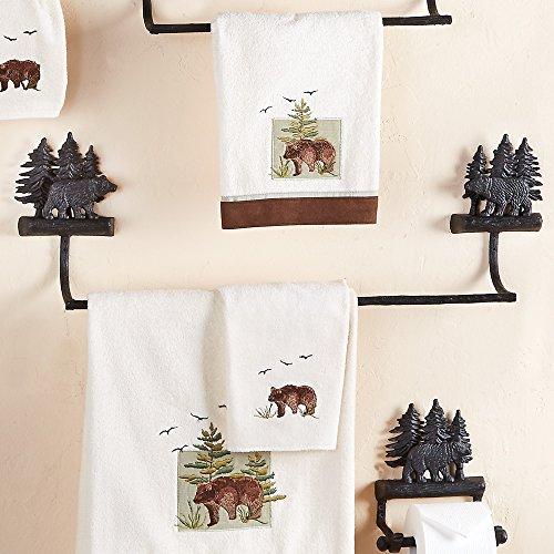 Black Forest Décor Forest Walk Black Bear 24 Inch Towel Bar ()
