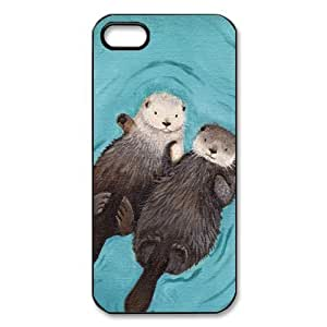 Treasure Design Funny Otterly Romantic - Otters Holding Hands APPLE IPHONE 5 Best Durable Case