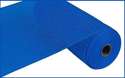 burlap fabric blue - 2